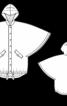 Накидка з капюшоном і застібкою - фото 3