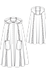 Накидка з капюшоном і накладними кишенями - фото 3