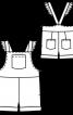 Напівкомбінезон на бретелях з оборками - фото 3