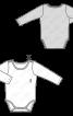 Комбінезон-боді трикотажний з довгими рукавами - фото 3