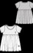 Комбінезон-боді з короткими рукавами і вшитою спідницею - фото 3