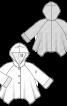 Пальто коротке з асиметричним низом - фото 3