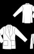 Пальто із суцільнокроєним коміром - фото 3