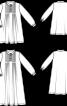 Сукня з коміром-стойкою і застібкою поло - фото 3