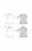 Нічна сорочка трикотажна з рукавами реглан - фото 3