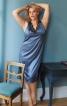 Сорочка нічна атласна з V-подібним вирізом - фото 1