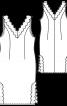 Сорочка нічна атласна з V-подібним вирізом - фото 3