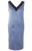 Сорочка нічна атласна з V-подібним вирізом - фото 2