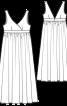 Сорочка нічна довга і з високою талією - фото 3