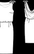Сукня вінтажна з відкритою спиною - фото 3