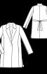 Пальто-блейзер із довгими лацканами - фото 3