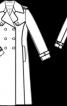 Тренчкот двобортний з відлітними кокетками - фото 3