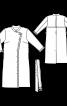 Пальто з оборками в стилі тренчкота - фото 3