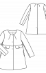 Пальто А-силуету без коміра - фото 3