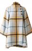 Пальто широкого крою із коміром-стойкою - фото 2