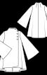 Пальто широкого крою із коміром-стойкою - фото 3