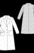 Пальто максі зі знімним трикотажним коміром - фото 3