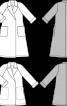 Плащ-пальто з рукавами реглан і поясом - фото 3