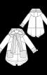 Пальто коротке А-силуету з капюшоном - фото 3
