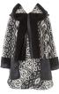 Пальто коротке А-силуету з капюшоном - фото 2