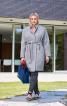Пальто О-силуету з коміром-стойкою - фото 1
