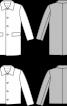 Пальто прямого крою з відкладним коміром - фото 3