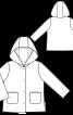 Пальто хутряне з капюшоном і кишенями - фото 3