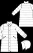 Пальто з коміром-стійкою і капюшоном - фото 3