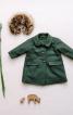 Пальто зі знімним хутряним коміром - фото 1
