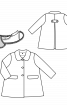 Пальто зі знімним хутряним коміром - фото 3