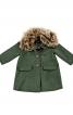Пальто зі знімним хутряним коміром - фото 2