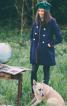 Пальто двобортне з відкладним коміром - фото 1