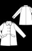 Пальто двобортне з відкладним коміром - фото 3