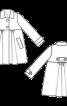 Пальто з відкладним коміром силуету ампір - фото 3