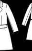 Пальто відрізне з оксамитовим коміром - фото 3