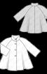 Пальто трикотажне А-силуету з коміром-стойкою - фото 3