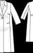 Пальто коротке з додатковим об'ємом в талії - фото 3