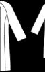 Пальто двобортне без коміра - фото 3