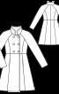 Пальто двобортне з рукавами реглан - фото 3