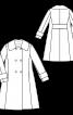 Пальто розкльошеного крою в стилі ретро - фото 3