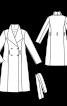 Пальто двубортное с большим воротником - фото 3
