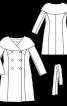 Пальто двобортне з великим коміром-пелериною - фото 3