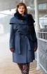 Пальто двобортне з великим коміром-пелериною - фото 1