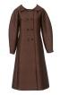 Пальто двобортне розкльошеного силуету - фото 2