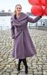 Пальто двобортне з великим коміром - фото 1