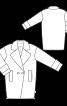 Пальто коротке двобортне О-силуету - фото 3
