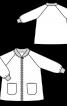 Пальто на блискавці з рукавами реглан - фото 3