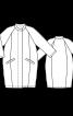 Пальто О-силуету з рукавами-реглан 7/8 - фото 3