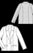 Жакет однобортний з прорізними кишенями - фото 3