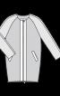 Пальто О-силуету без коміра - фото 3